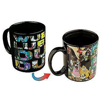 Rick and Morty Group Shot Heat Change Coffee Mug