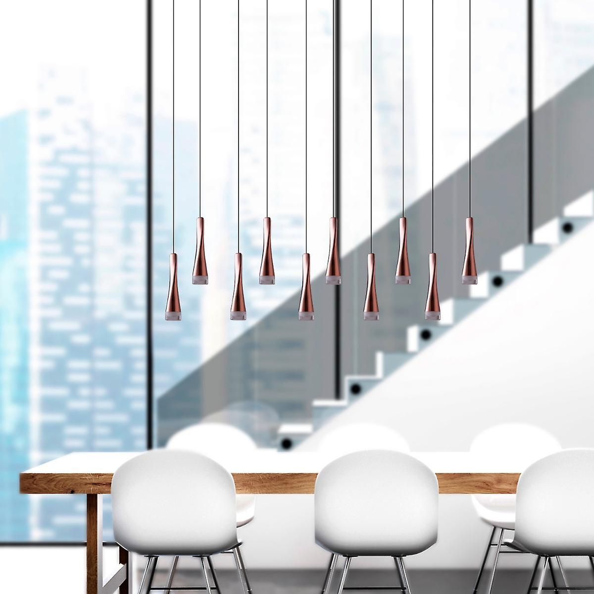 Pendant Lamp Ceiling Light Modern Hanging Industrial Ten Pendant Rectangular Canopy