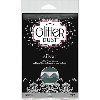 Glitter Dust Photo Corners 84 Pkg Silver Twc31 12