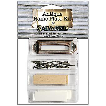 Salvaged Antique Name Plate Kit-  LIBR8