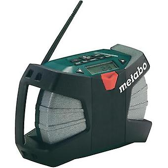 Metabo Powermaxx RC Battery Powered Outdoor / Construction Site Radio, Black, Green