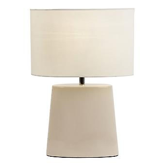 Endon IRIS-TLCR Table Lamp In Cream With Matching Cotton Shade