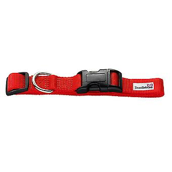 Doodlebone Bold Nylon Collar Red Small 20mm X 30-50cm