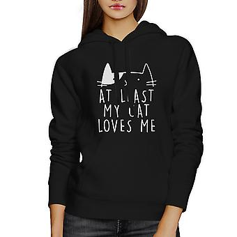 At Least My Cat Loves Me Unisex Hoodie Cute Design For Cat People