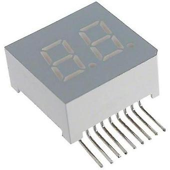 Seven-segment display Red 7.62 mm 2 V No. of digits: 2 LUMEX