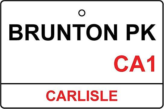Carlisle / Brunton Park Street Sign Car Air Freshener