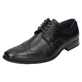 Mens Flat Formal Lace Up Brogue Shoes A2071
