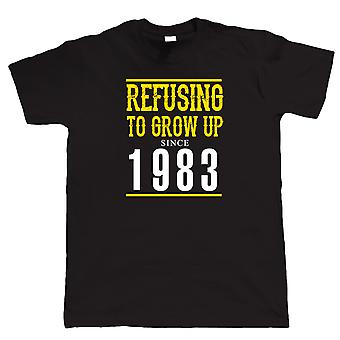 Vectorbomb, Refusing To Grow Up Since 1983 Mens Funny T Shirt  (S to 5XL)