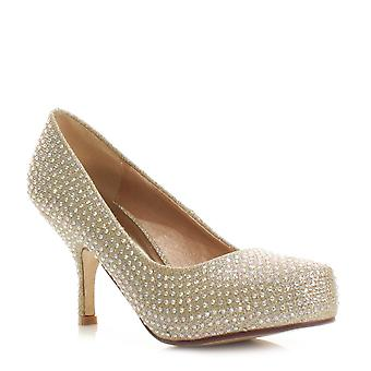 Koi Couture Ladies Caj100 Gold Mesh Court Shoes