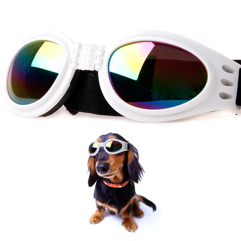 f5cf6bfaf2fee1 DIGIFLEX vouwen verstelbare Goggles hond zonnebril in wit