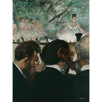 Edgar Degas - Orchestra Musicians Poster Print Giclee