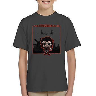 Bangkok Rules Snake Plissken Escape From New York LA Kid's T-Shirt