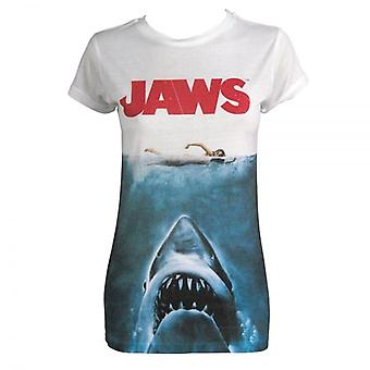 JAWS dame Jaws film plakat Sublimation Print T Shirt