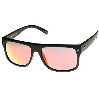Premium Action Sports Rectangular Frame Color Mirror Lens Sunglasses
