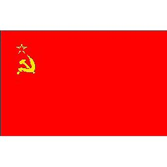 USSR Flag 5ft x 3ft (100% Polyester) With Eyelets For Hanging