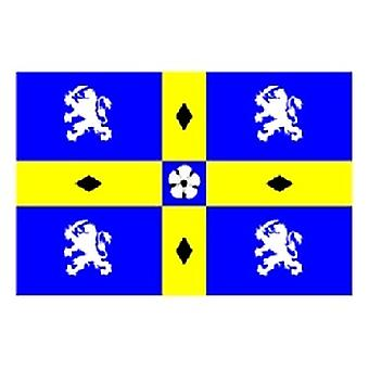 Durham County Flag 5ft x 3ft With Eyelets For Hanging