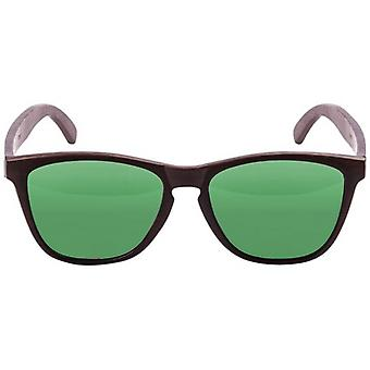 Ocean Sea Wood Sunglasses - Brown/Revo Green