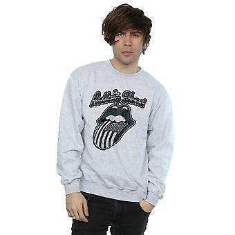 Rolling Stones mænds monokrom amerikanske tungen Sweatshirt
