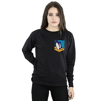 Looney Tunes vrouwen Roadrunner gezicht Faux Pocket Sweatshirt
