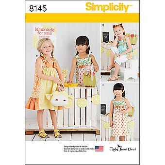 CHILD'S PATTERN FROM RUBY JEAN'S CLOSET-3-4-5-6-7-8 US8145A