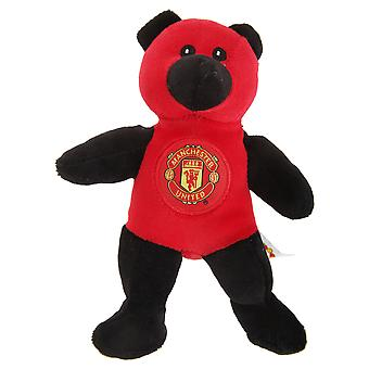 Manchester United FC Official Mini Plush Contrast Football Crest Teddy Bear