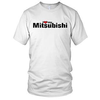 Jeg elsker min Mitsubishi bil Mens T-skjorte
