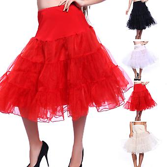 27-tums retro underkjol 50s Swing Vintage underkjol Rockabilly Tutu Fancy netto kjol
