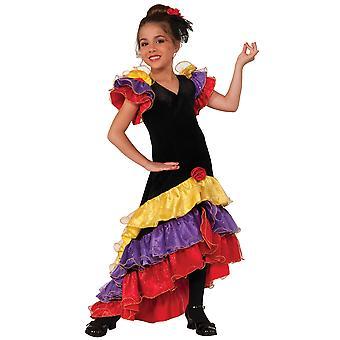Flamenco Deluxe Dancer Latin Spanish Spain Senorita Book Week Girls Costume