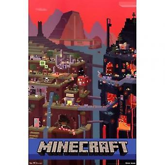 Minecraft куб Плакат Плакат Печать