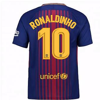 2017-2018 Barcelona hjemme trøje (Ronaldinho 10)