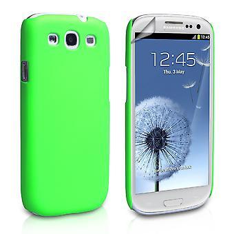 Yousave Аксессуары для Samsung Galaxy S3 гибридный жесткий дело - зеленый