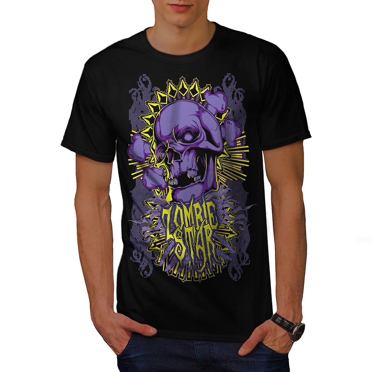Star Horror Death Zombie Men Black T-shirt | Wellcoda