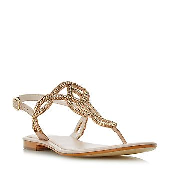 Dune Mesdames NEA embelli Toe Post sandale en Blush