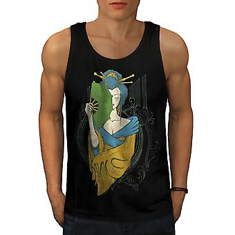 Girl Asia Japan Men BlackTank Top | Wellcoda