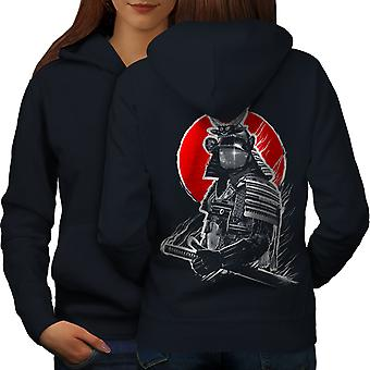 Japanese War Women NavyHoodie Back | Wellcoda