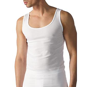 Mey 49100-101 Men's Casual Cotton White Solid Colour Tank Vest Top