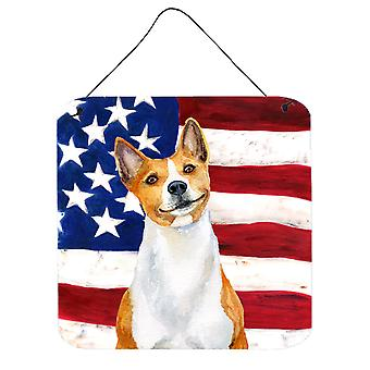 Carolines Treasures  BB9692DS66 Basenji Patriotic Wall or Door Hanging Prints