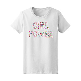 Feminism Girl Power Lettering Tee Women's -Image by Shutterstock