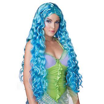 Hav Siren blå sjöjungfrun prinsessan Ariel Story bok veckan kvinnor kostym peruk
