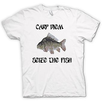 Kids t-skjorte - Karpe Diem - gripe fisken - morsomt
