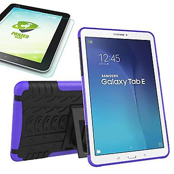 Hybrid outdoor bag purple for Samsung Galaxy tab E 9.6 SM T560 + 0.4 tempered glass