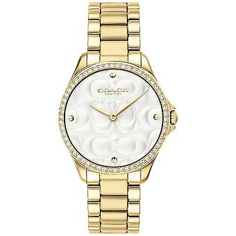 Coach para mujer moderno deporte en reloj 14503071 de oro