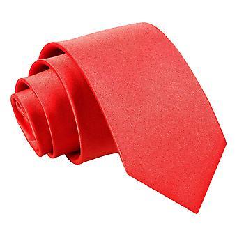 Plaine de Red Satin régulier cravate pour les garçons