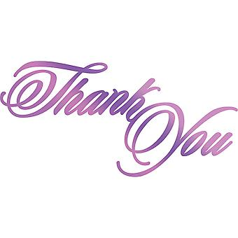 Couture Creations Every Day Sentiments Hotfoil Stamp-Thank You 3.3