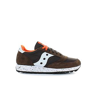 SAUCONY ORIGINALS BROWN ORANGE JAZZ SNEAKER