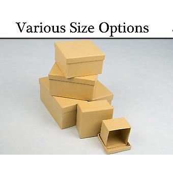 Paper Mache Square High Stacking Boxes with Lids to Decorate