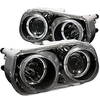 Anzo USA 121003 Acura Integra Projector with Halo Black Headlight Assembly - (Sold in Pairs)