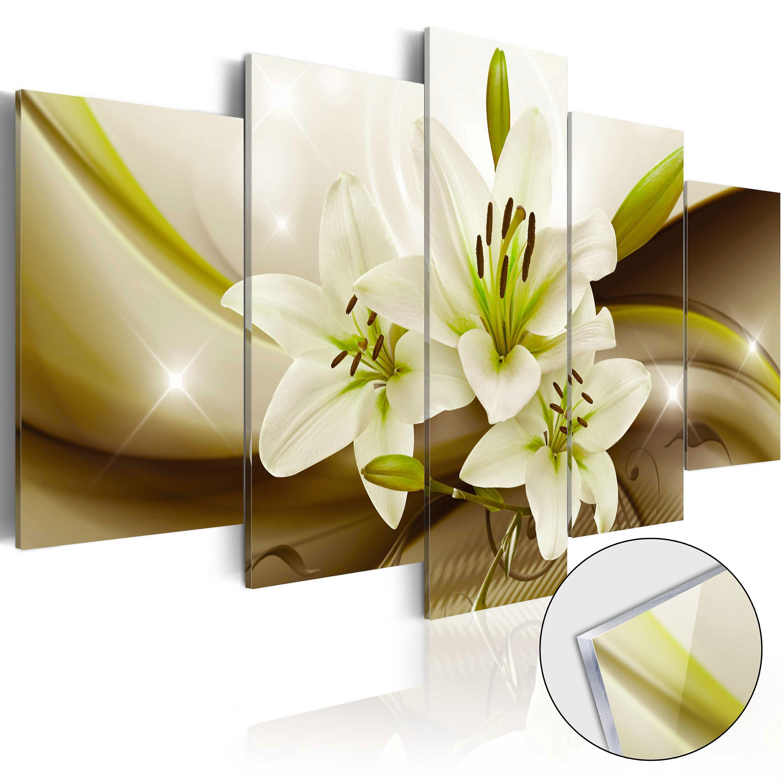 Tableau sur verre acrylique - Modern Lily [Glass]