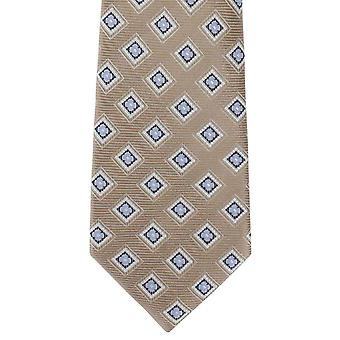 Michelsons of London Box Neat Silk Tie - Brown