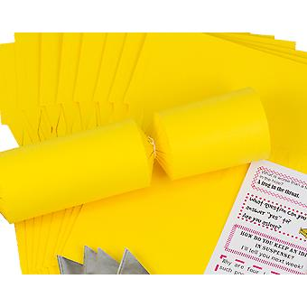 Single Jumbo Yellow Make & Fill Your Own Cracker Making Craft Kit